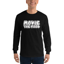 Load image into Gallery viewer, Movie The Food - Text Logo Longsleeve T-Shirt - Black - Model Front