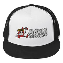 Load image into Gallery viewer, Movie The Food - Logo Classic Mesh Snapback - Black/White/Black