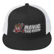 Load image into Gallery viewer, Movie The Food - Logo Classic Mesh Snapback - Black/White