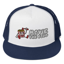 Load image into Gallery viewer, Movie The Food - Logo Classic Mesh Snapback - Navy/White/Navy