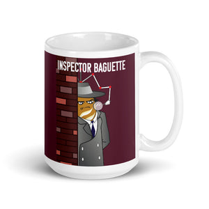 Movie The Food - Inspector Baguette Mug - Maroon - 15oz