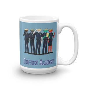 Movie The Food Pholice Academy Mug 15oz - Light Blue