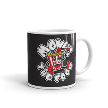 Load image into Gallery viewer, Movie The Food Round Logo Mug Black 11oz