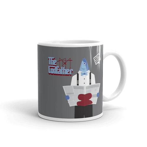 Movie The Food The Codfather Mug Grey 11oz