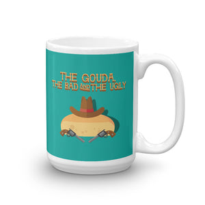 Movie The Food The Gouda, The Bad, The Ugly Mug Turquoise 15oz