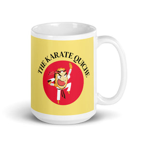 Movie The Food - The Karate Quiche Mug - Yellow - 15oz