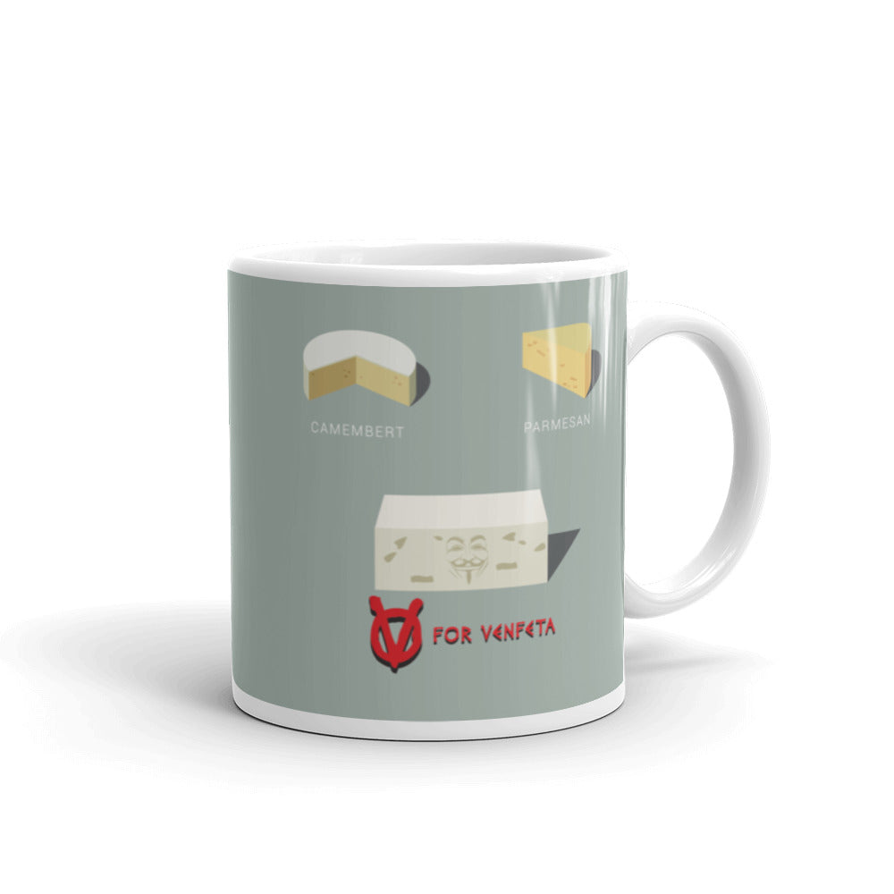 Movie The Food - V For Venfeta Mug - Grey 11oz
