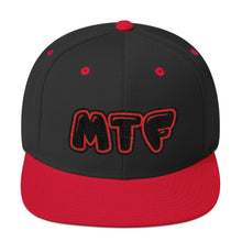 Load image into Gallery viewer, Movie The Food - MTF Logo Snapback - Black/Red