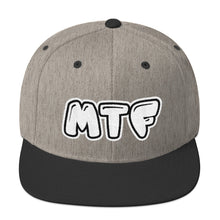 Load image into Gallery viewer, Movie The Food - MTF Logo Snapback - Heather/Black
