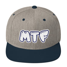 Load image into Gallery viewer, Movie The Food - MTF Logo Snapback - Heather/Navy