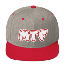 Load image into Gallery viewer, Movie The Food - MTF Logo Snapback - Heather/Red