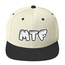 Load image into Gallery viewer, Movie The Food - MTF Logo Snapback - Natural/Black