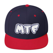 Load image into Gallery viewer, Movie The Food - MTF Logo Snapback - Navy/Red