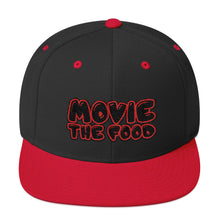 Load image into Gallery viewer, Movie The Food - Text Logo Snapback - Black/Red