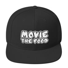 Load image into Gallery viewer, Movie The Food - Text Logo Snapback - Black
