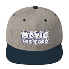 Load image into Gallery viewer, Movie The Food - Text Logo Snapback - Heather/Navy