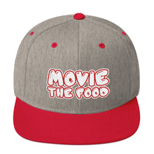 Load image into Gallery viewer, Movie The Food - Text Logo Snapback - Heather/Red