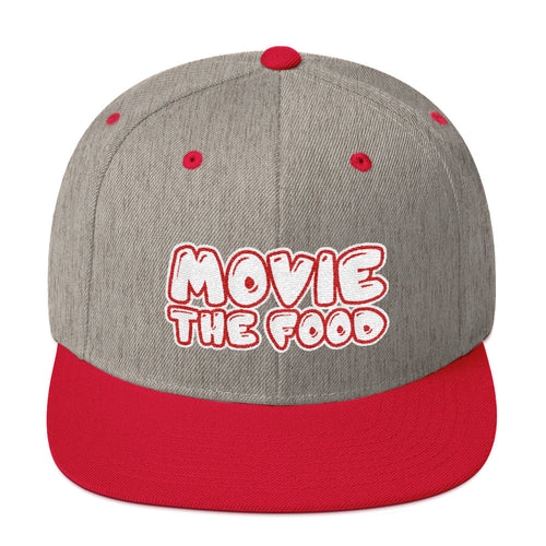 Movie The Food Text Logo Snapback Heather/Red