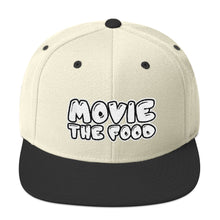 Load image into Gallery viewer, Movie The Food - Text Logo Snapback - Natural/Black