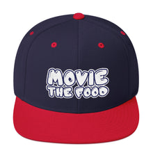 Load image into Gallery viewer, Movie The Food - Text Logo Snapback - Navy/Red