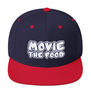 Movie The Food - Text Logo Snapback - Navy/Red