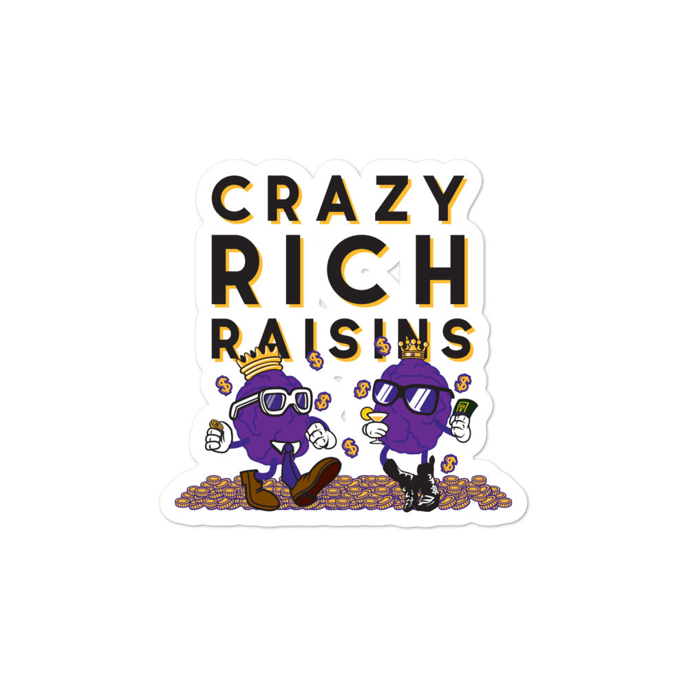 Movie The Food - Crazy Rich Raisins - Sticker - 3x3