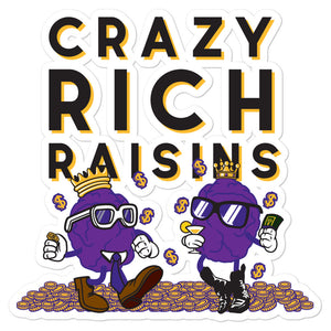 Movie The Food - Crazy Rich Raisins - Sticker - 5.5x5.5