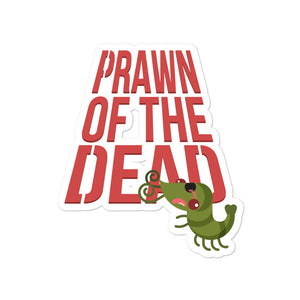 Movie The Food - Prawn Of The Dead - Sticker - 4x4