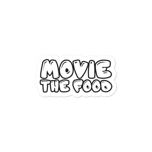 Movie The Food - Text Logo - Sticker - 3x3