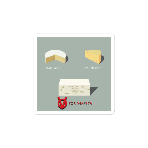 Movie The Food - V For Venfeta - Sticker - 3x3