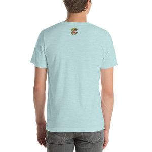 Movie The Food - The Fig Lebowski T-Shirt - Heather Prism Ice Blue - Model Back
