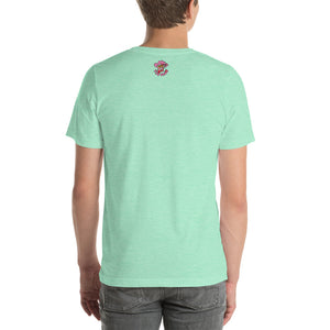 Movie The Food - The People Beneath The Eclairs T-Shirt - Heather Mint - Model Back