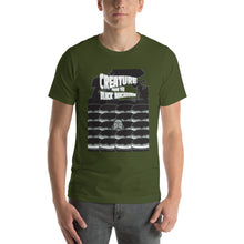 Load image into Gallery viewer, Movie The Food - Creature From The Black Macaroon T-Shirt - Olive - Model Front
