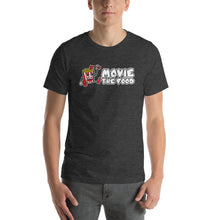 Load image into Gallery viewer, Movie The Food - Logo T-Shirt - Dark Grey Heather - Model Front