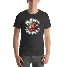 Load image into Gallery viewer, Movie The Food - Round Logo T-Shirt - Dark Grey Heather - Model Front