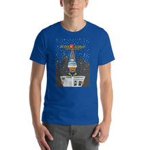 Load image into Gallery viewer, Movie The Food - Scone Alone 2 T-Shirt - True Royal - Model Front