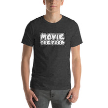 Load image into Gallery viewer, Movie The Food - Text Logo T-Shirt - Dark Grey Heather - Model Front