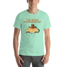 Load image into Gallery viewer, Movie The Food - The Gouda, The Bad, The Ugly T-Shirt - Heather Mint - Model Front