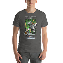 Load image into Gallery viewer, Movie The Food - Toastbusters T-Shirt - Asphalt - Model Front