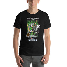 Load image into Gallery viewer, Movie The Food - Toastbusters T-Shirt - Black - Model Front