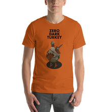 Load image into Gallery viewer, Movie The Food - Zero Dark Turkey T-Shirt - Autumn - Model Front