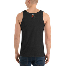 Load image into Gallery viewer, Movie The Food - Round Logo Tank Top - Charcoal-black Triblend - Model Back