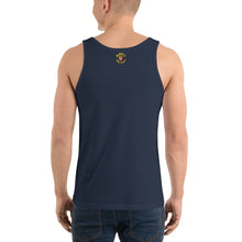 Load image into Gallery viewer, Movie The Food - The Fig Lebowski Tank Top - Navy - Model Back