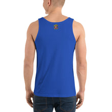 Load image into Gallery viewer, Movie The Food - The Fig Lebowski Tank Top - True Royal - Model Back