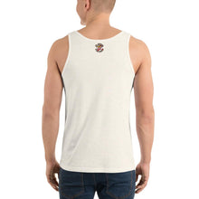 Load image into Gallery viewer, Movie The Food - Zero Dark Turkey Tank Top - Oatmeal Triblend - Model Back