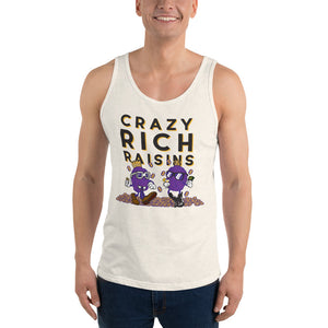 Movie The Food - Crazy Rich Raisins Tank Top - Oatmeal Triblend - Model Front