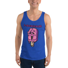 Load image into Gallery viewer, Movie The Food - I-Scream Tank Top - Limited Edition True Royal - Model Front