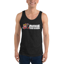 Load image into Gallery viewer, Movie The Food - Logo Tank Top - Charcoal-black Triblend - Model Front