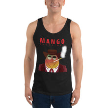 Load image into Gallery viewer, Movie The Food - Mango Unchained Tank Top - Black - Model Front