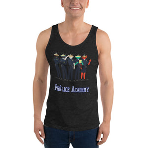 Movie The Food - Pho-lice Academy Tank Top - Charcoal-black Triblend - Model Front